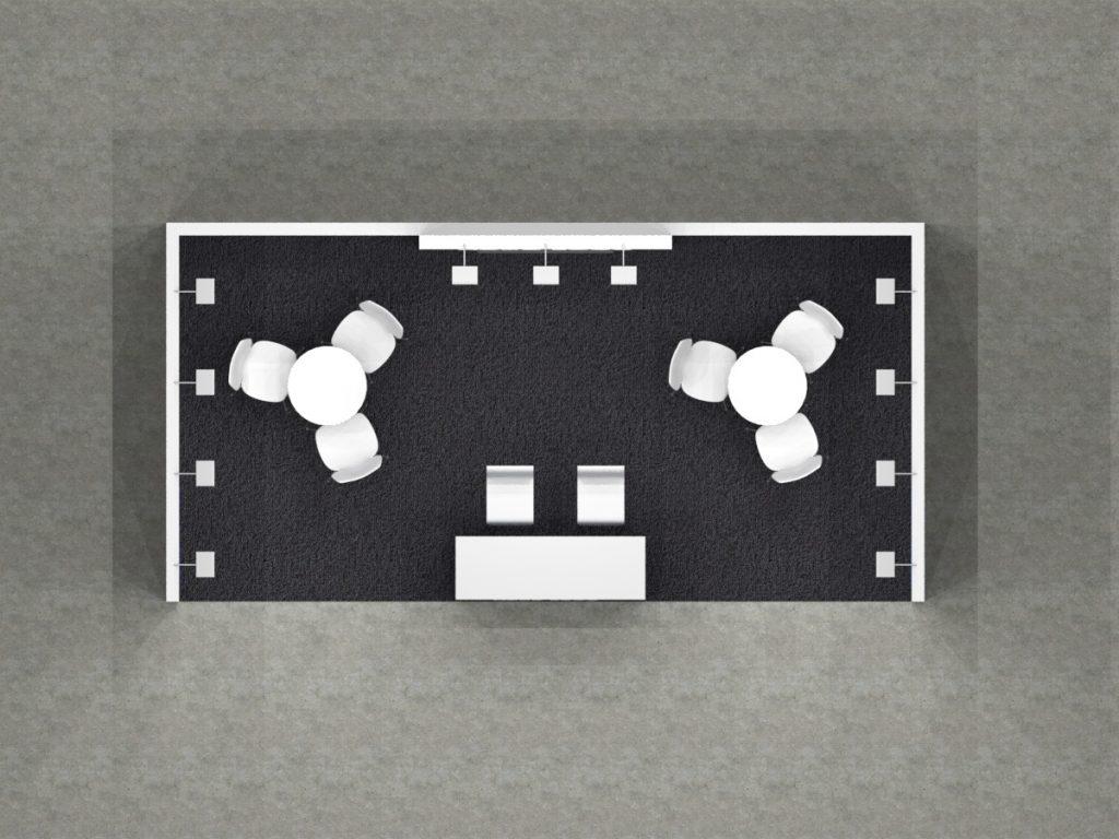 6x3 - Centre Tower Desk Floor Plan