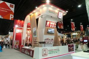 1 Bangkok Ranch exhibition stand at THAIFEX 2017 by Fret Free Productions