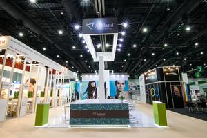 02 Ashland exhibition stand at In-cosmetic by Fret Free Productions