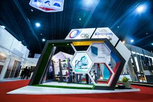 2 C.I.Group exhibition stand at ASA 2017 by Fret Free Productions