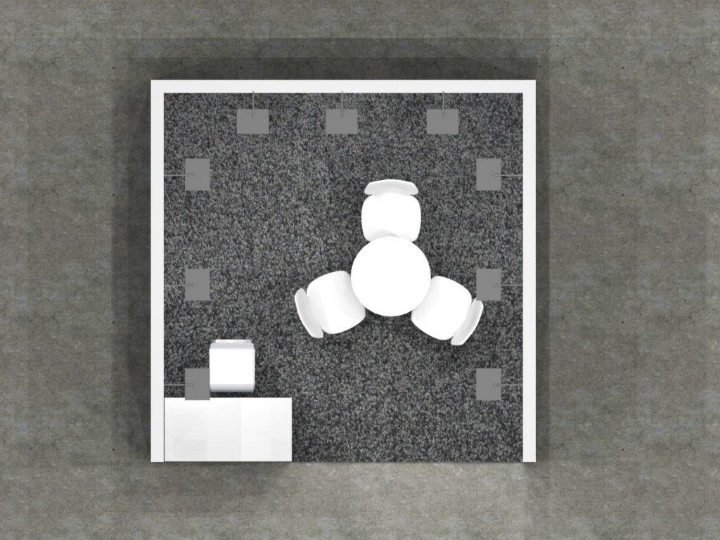 3x3 - Open Booth Design Floor Plan